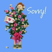 Sorry Greeting Card One Lump or Two
