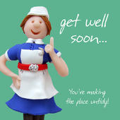 Get Well Soon Greeting Card One Lump or Two Holy Mackerel Cards