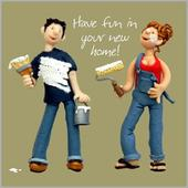 Have Fun In Your New Home Greeting Card One Lump or Two