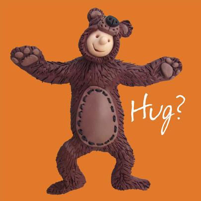 Hug? Cute Greeting Card One Lump or Two