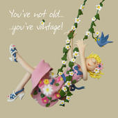 Not Old Vintage Happy Birthday Card One Lump or Two