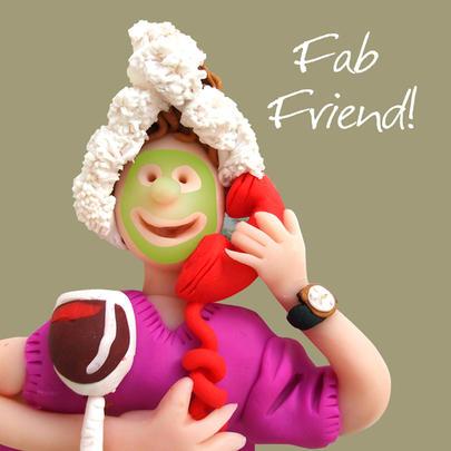 Fab Friend Happy Birthday Card One Lump or Two