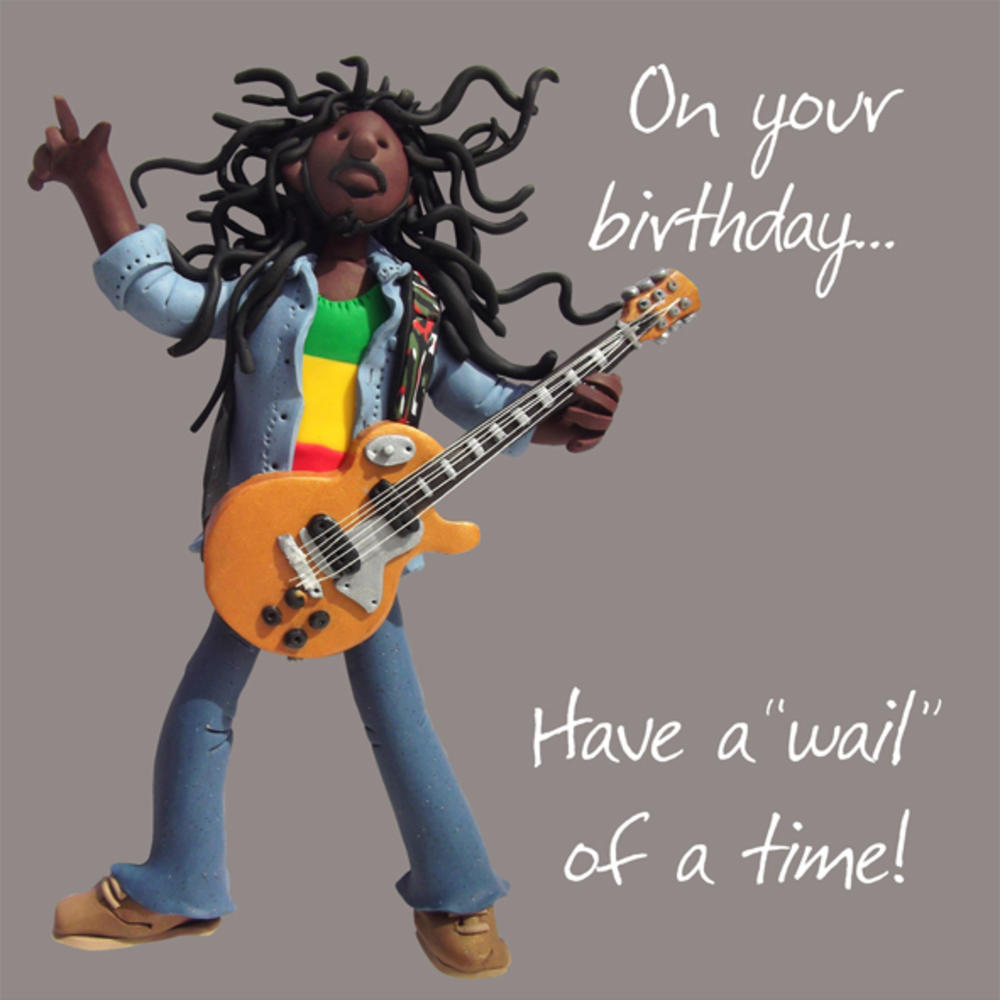 Wail Of A Time Happy Birthday Card One Lump or Two