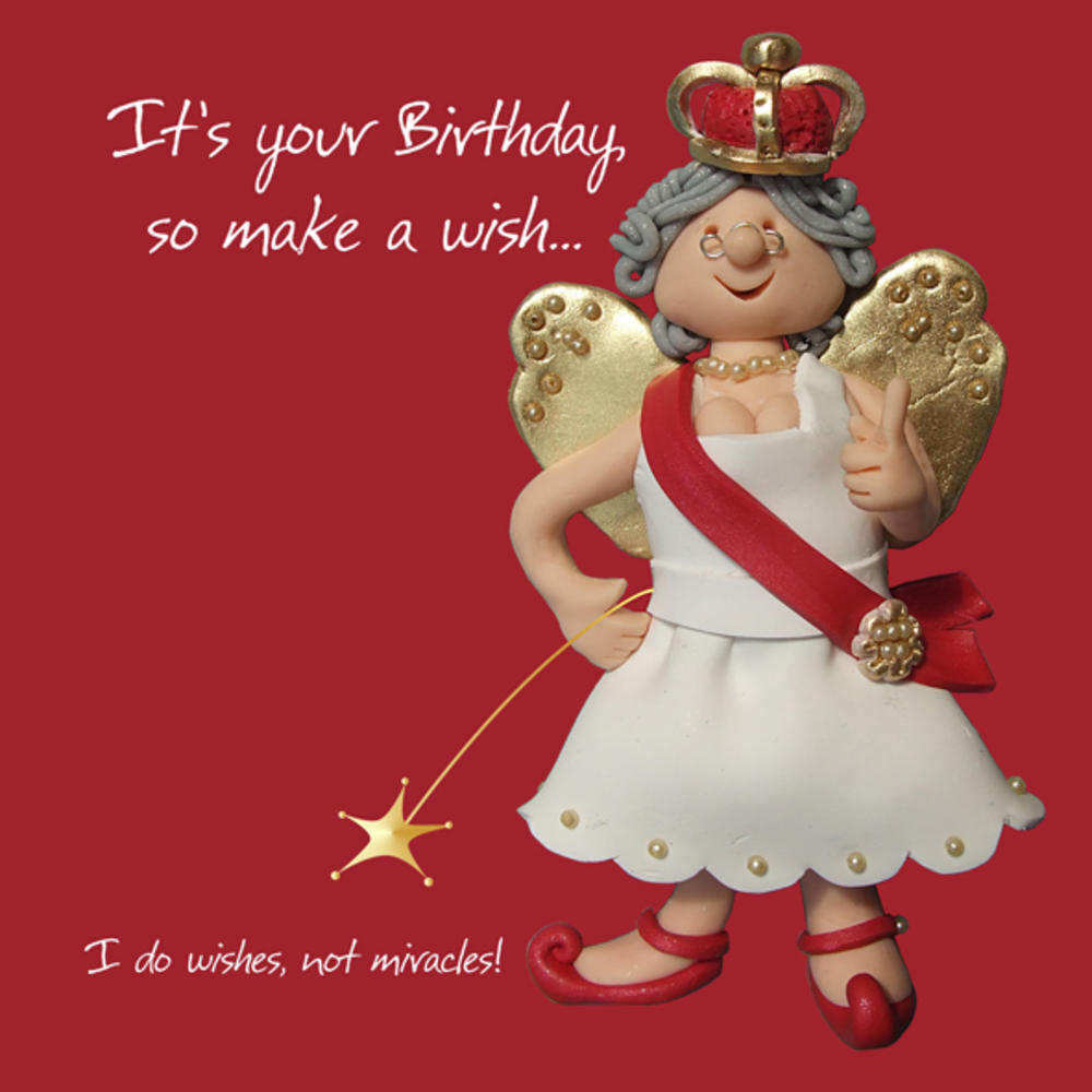 Make A Wish Happy Birthday Card One Lump or Two