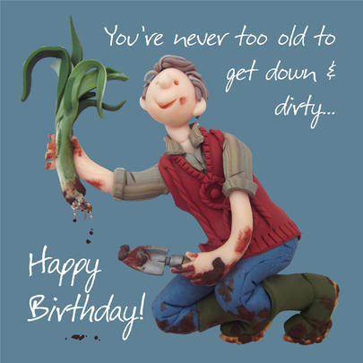 Down & Dirty Happy Birthday Card One Lump or Two