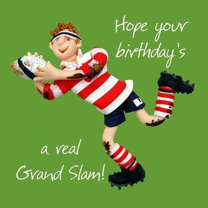 Grand Slam Happy Birthday Card One Lump or Two