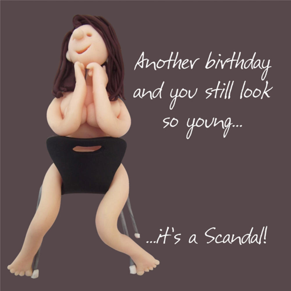 It's A Scandal Happy Birthday Card One Lump or Two