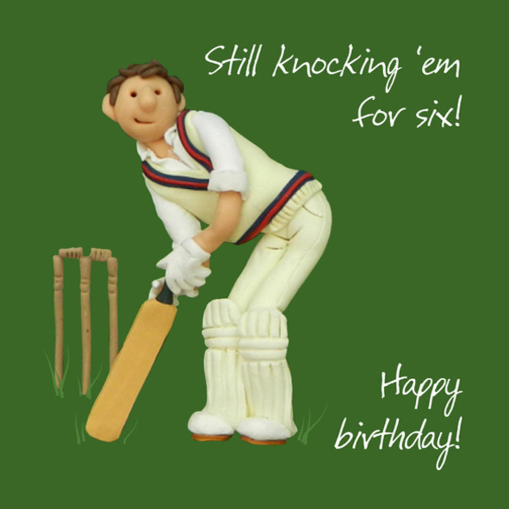 Cricket Happy Birthday Card One Lump or Two