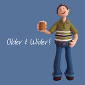 Older & Wider Happy Birthday Card One Lump or Two