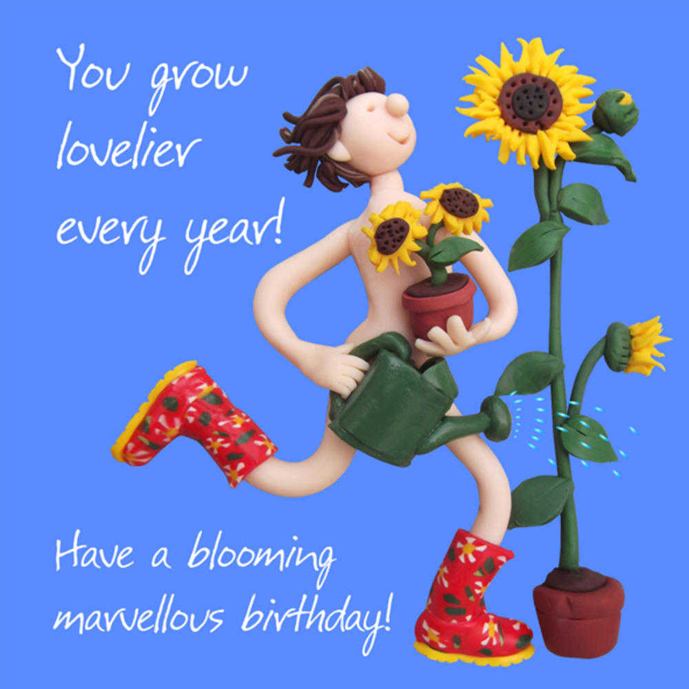Blooming Marvellous Birthday Card One Lump or Two