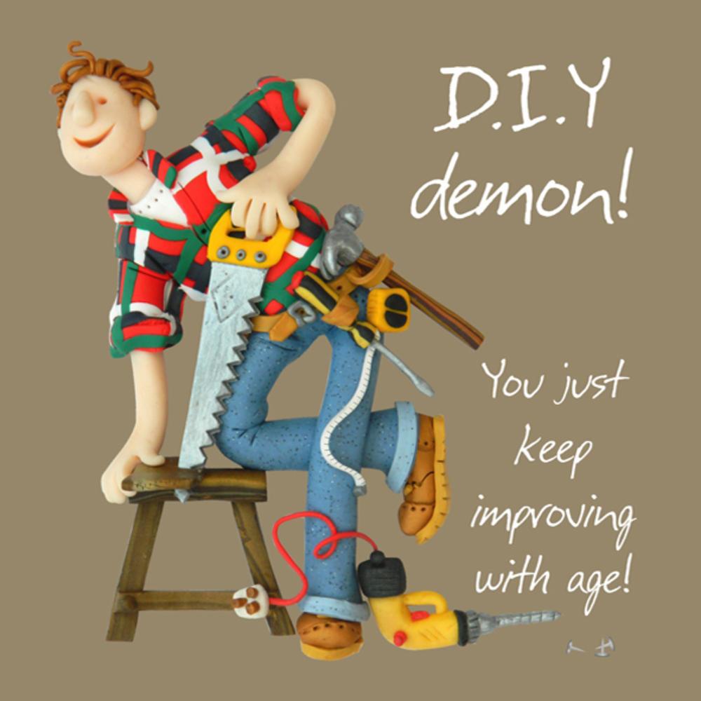 DIY Demon Happy Birthday Card One Lump or Two