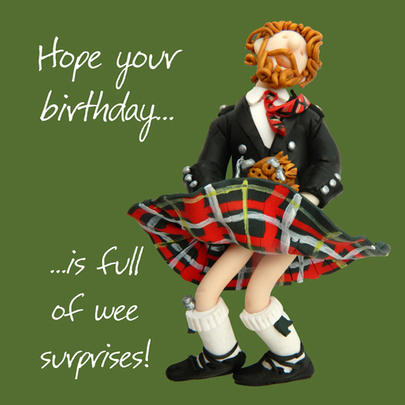 Wee Surprises Happy Birthday Card One Lump or Two