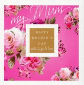 Stephanie Rose Pink Roses Happy Mother's Day Greeting Card