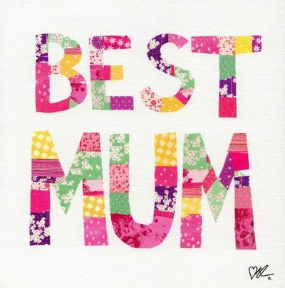 Kirstie Allsopp Best Mum Pretty Mother's Day Greeting Card