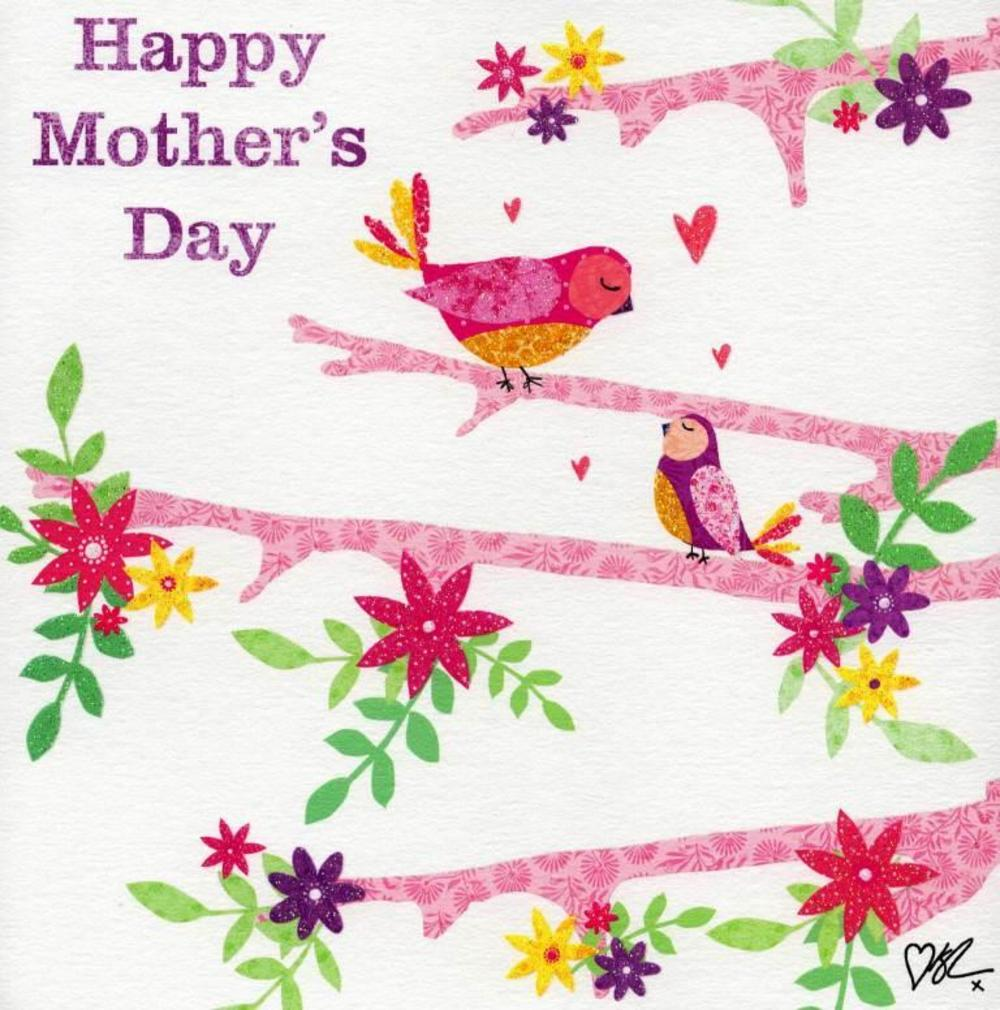 Kirstie Allsopp Birds Happy Mother's Day Greeting Card