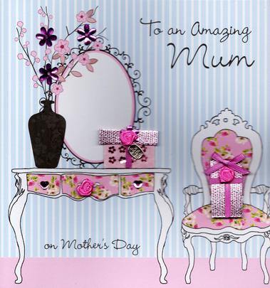 "Amazing Mum 8"" Square Happy Mother's Day Card"