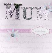 "Mum With Love 8"" Square Happy Mother's Day Card"