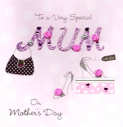 "Very Special Mum 8"" Square Happy Mother's Day Card"