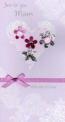 Just For You Mum Champagne Mother's Day Card