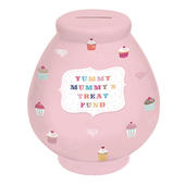 Yummy Mummy's Treat Fund Little Wishes Ceramic Money Pot