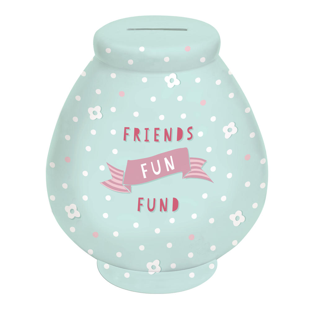 Friends Fun Fund Little Wishes Ceramic Money Pot