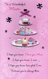 Luxury Wonderful Mum Hand-Finished Mother's Day Card