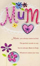 Luxury With Love Mum Hand-Finished Mother's Day Card