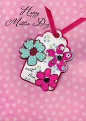 Pretty Hand-Finished Happy Mother's Day Card