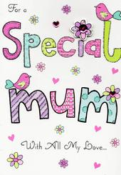 To A Special Mum Hand-Finished Mother's Day Card