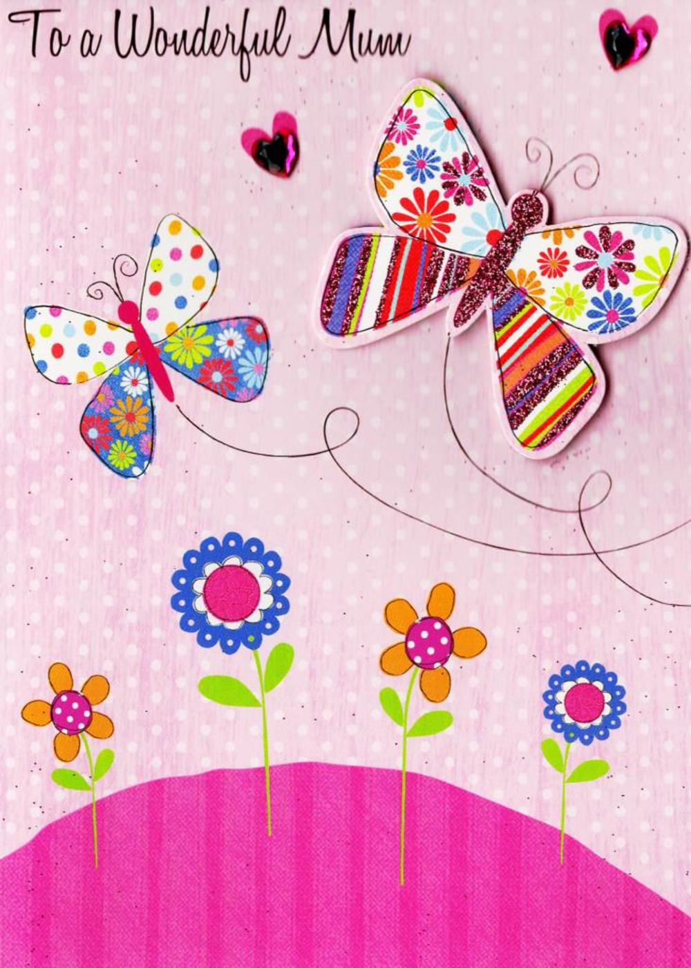 To A Wonderful Mum Hand-Finished Mother's Day Card