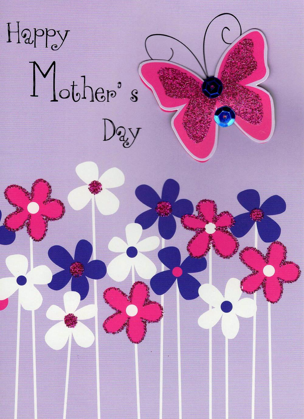 Pretty Butterfly Hand-Finished Happy Mother's Day Card