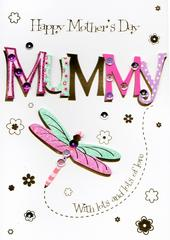 Mummy Dragonfly Happy Mother's Day Card