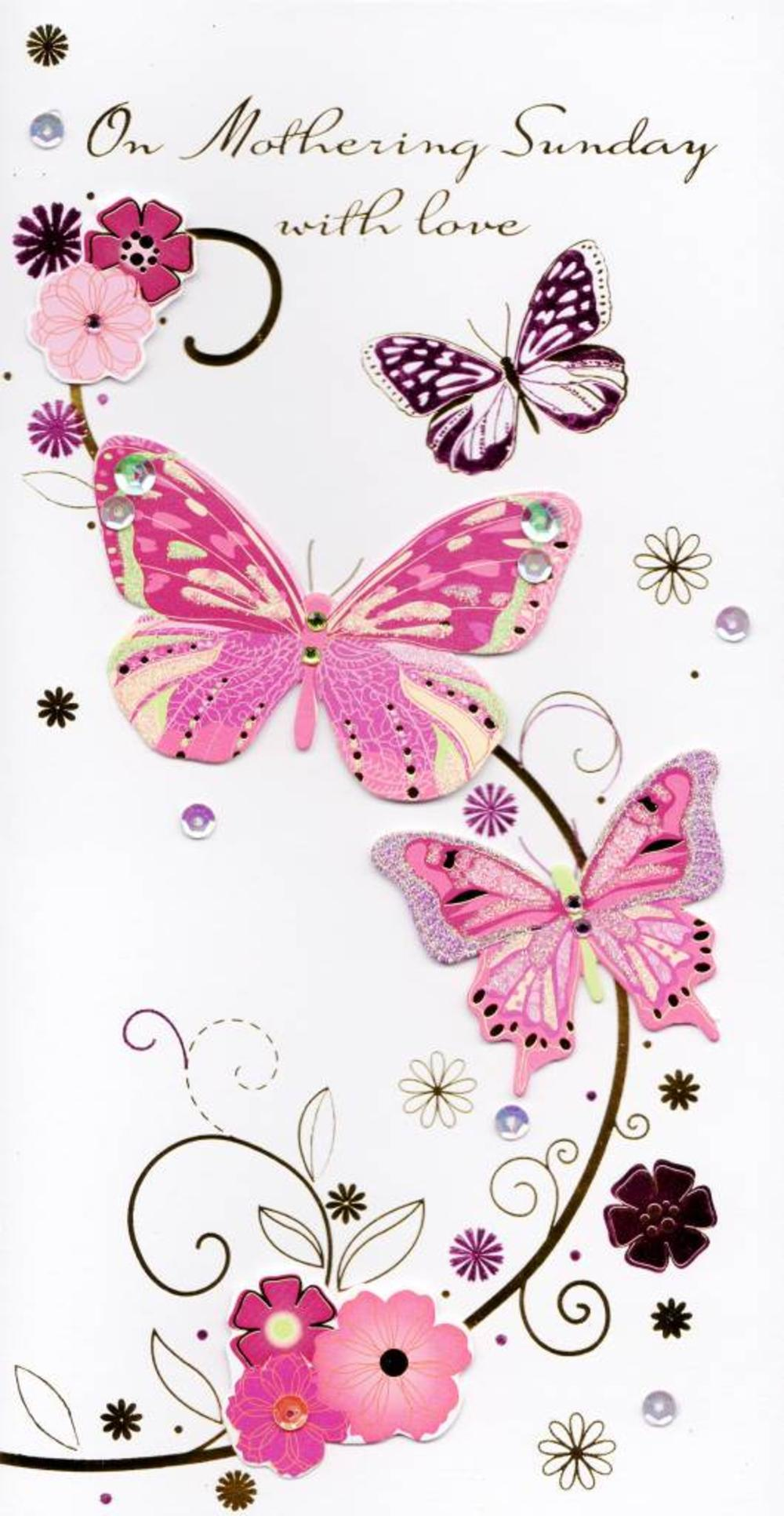 On Mothering Sunday Butterfly Mother's Day Card