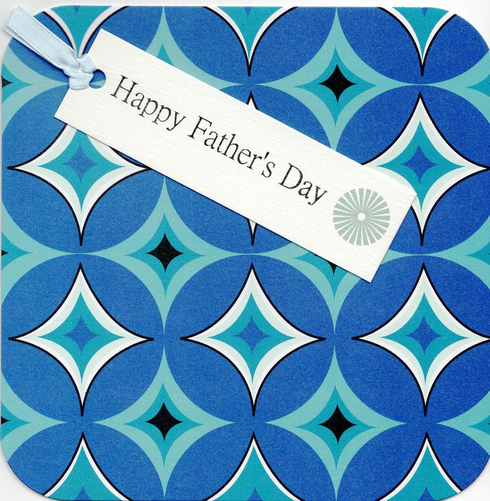 Happy Father's Day Hand-Finished Tag-Tastic Greeting Card