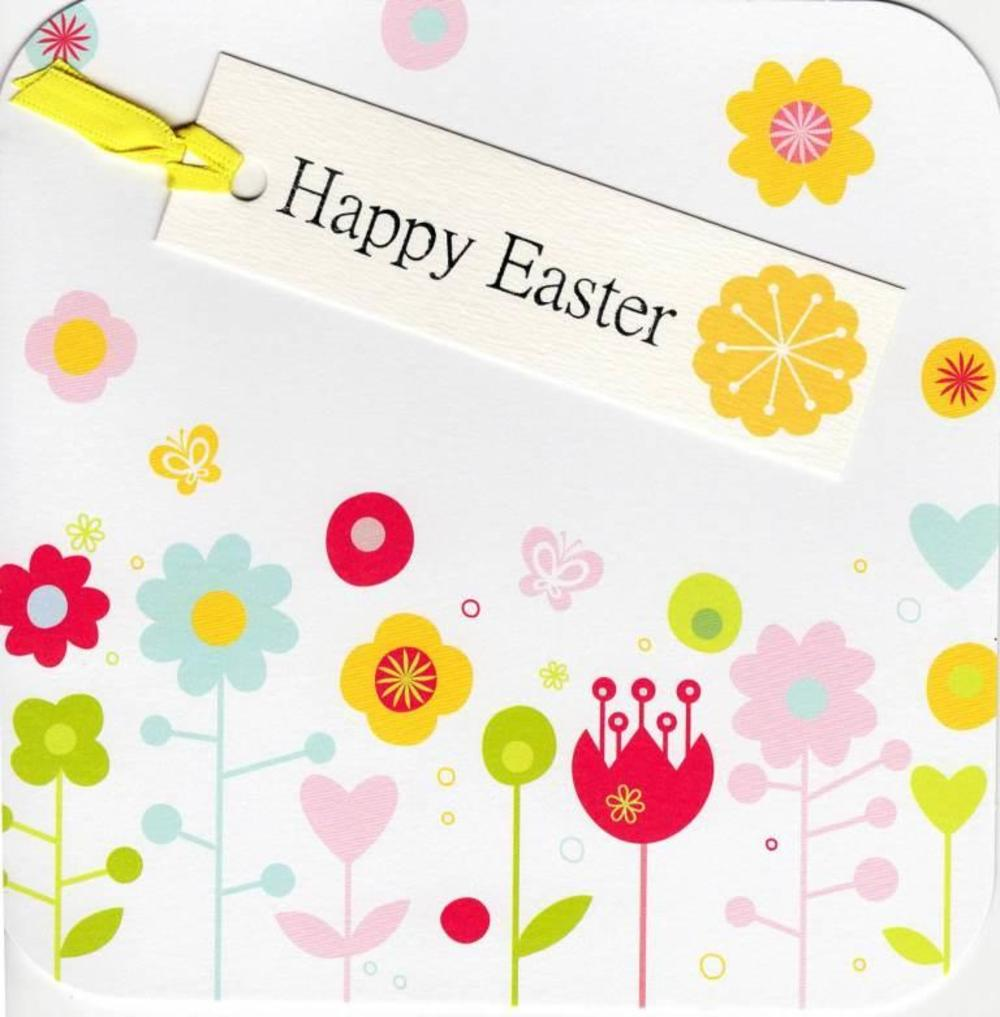 Happy Easter Hand-Finished Tag-Tastic Greeting Card
