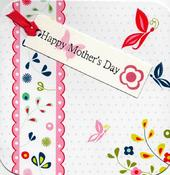 Happy Mother's Day Hand-Finished Tag-Tastic Greeting Card