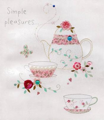 Simple Pleasure On Mother's Day Button Box Greeting Card