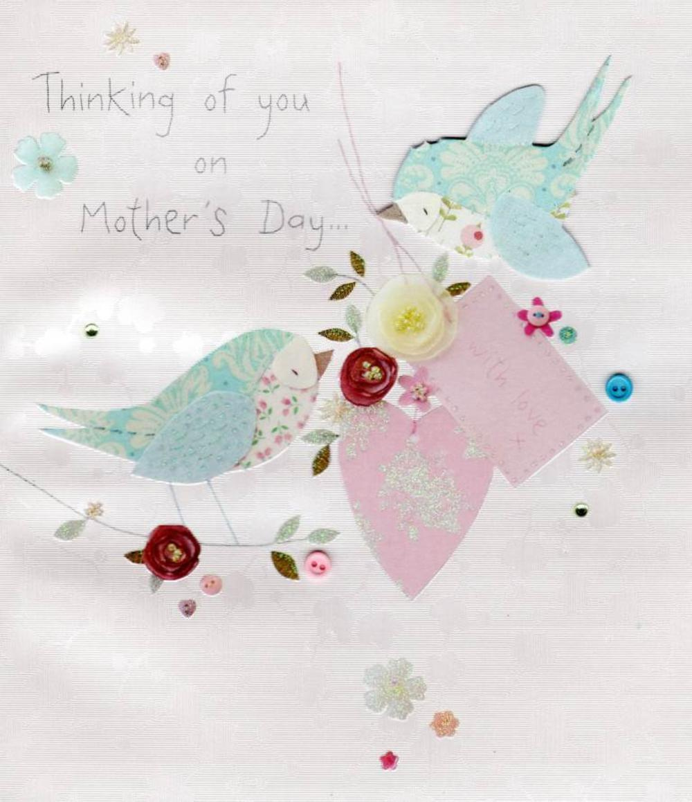 Thinking Of You On Mother's Day Button Box Greeting Card