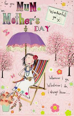 For You Mum On Mother's Day Ruby Wishes Card
