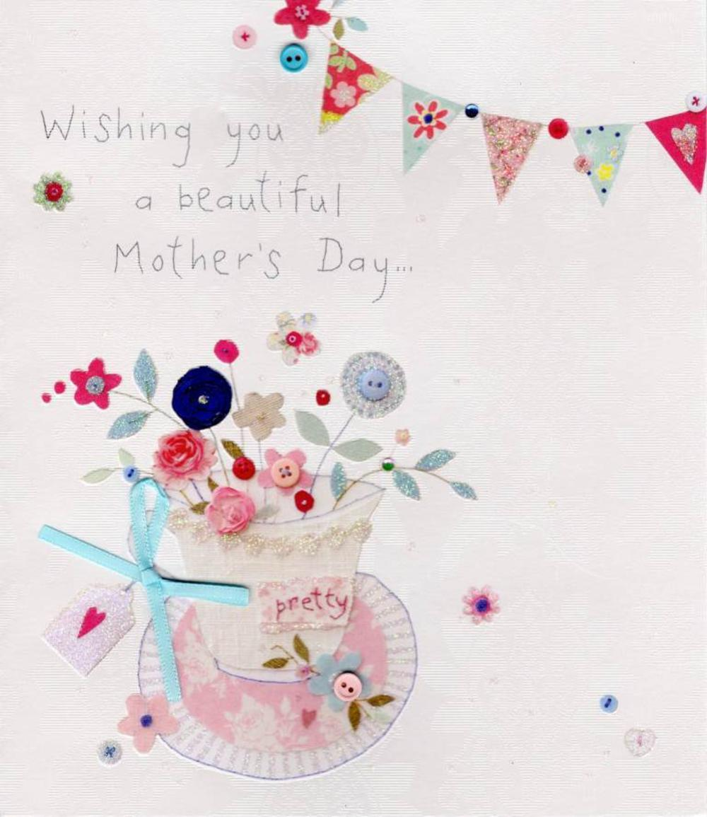 Wishing You A Beautiful Mother's Day Button Box Greeting Card