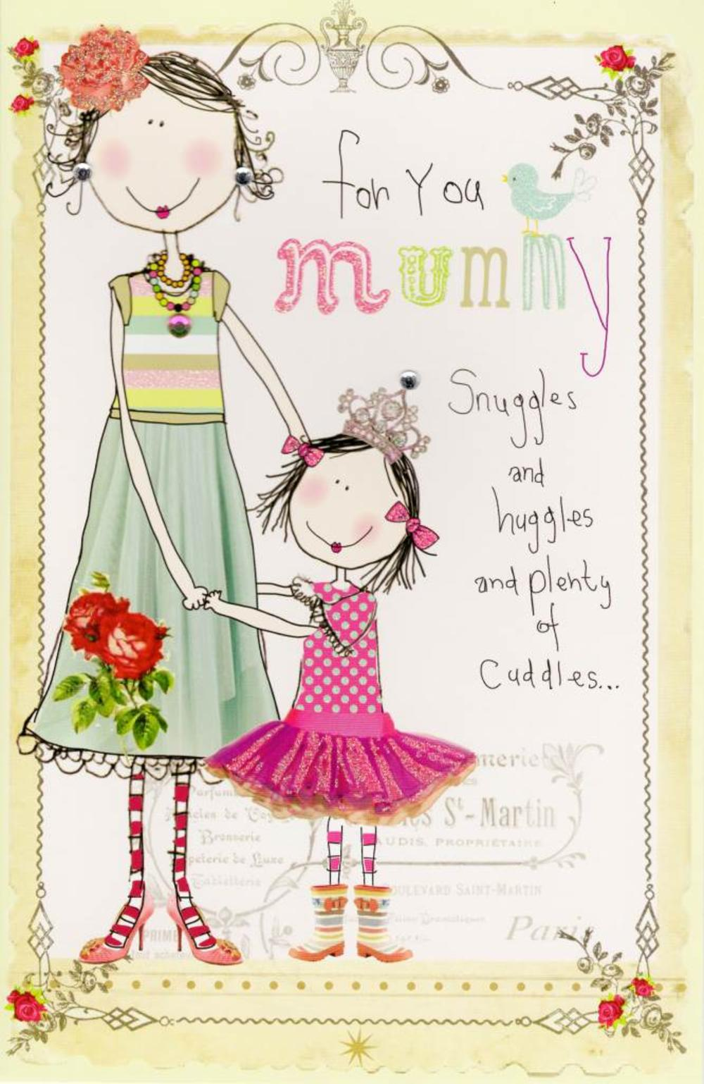 For You Mummy On Mother's Day Ruby Slippers Card