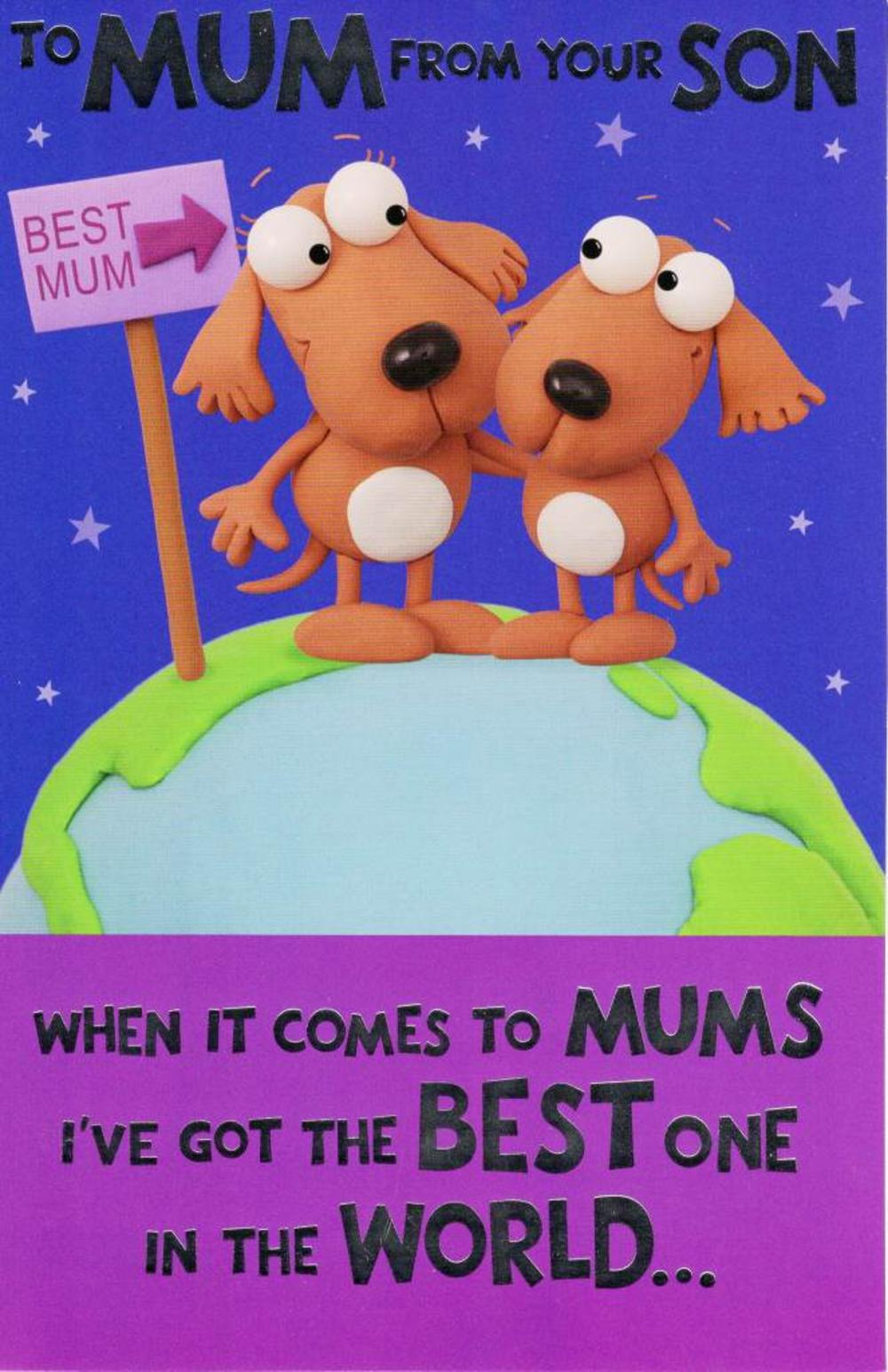To Mum From Son Funny Mother's Day Card