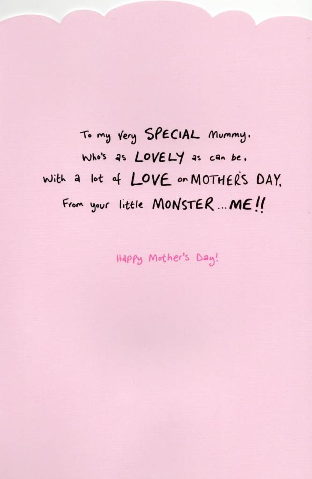 to mummy cute my monster mother s day card cards