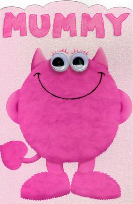 To Mummy Cute My Monster Mother's Day Card