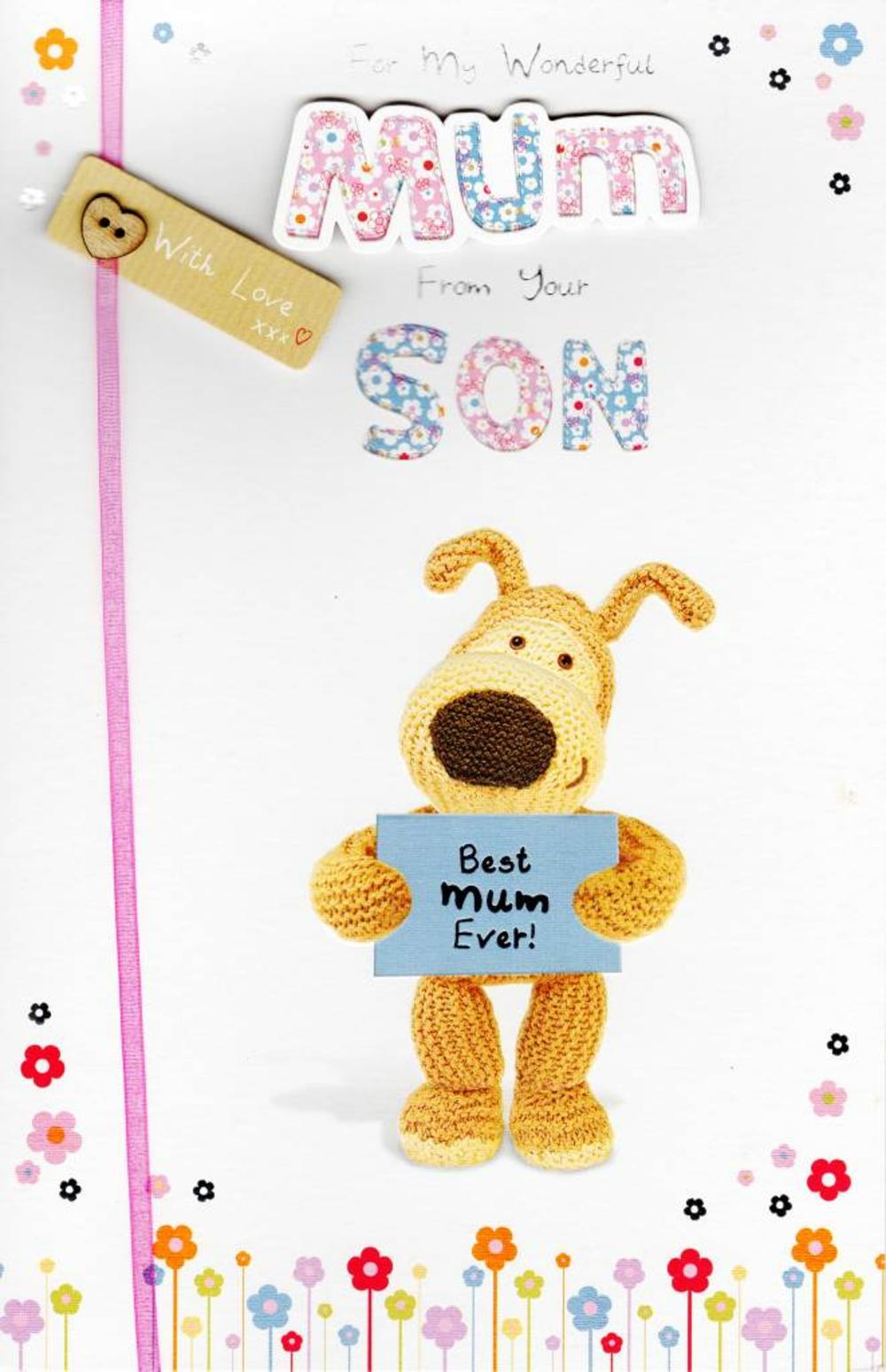 Boofle To Mum From Son Happy Mother's Day Greeting Card