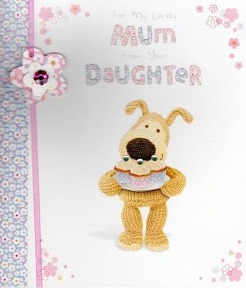 To Mum From Daughter Happy Mother's Day Greeting Card
