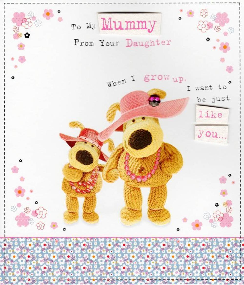 Boofle To Mummy From Daughter Happy Mother's Day Greeting Card