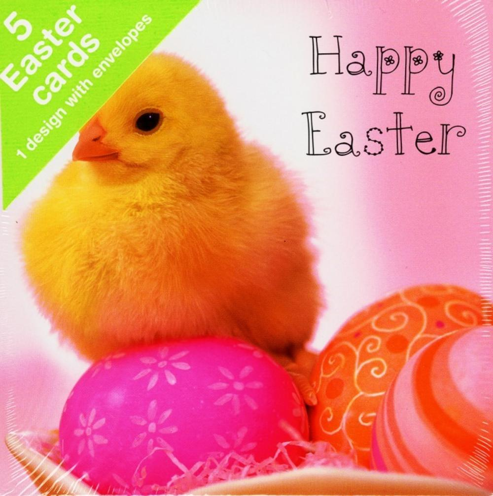 Pack of 5 Happy Easter Greeting Cards