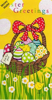 Easter Greetings Money Wallet Cute Gift Card