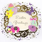 Easter Greetings Happy Easter Greeting Card